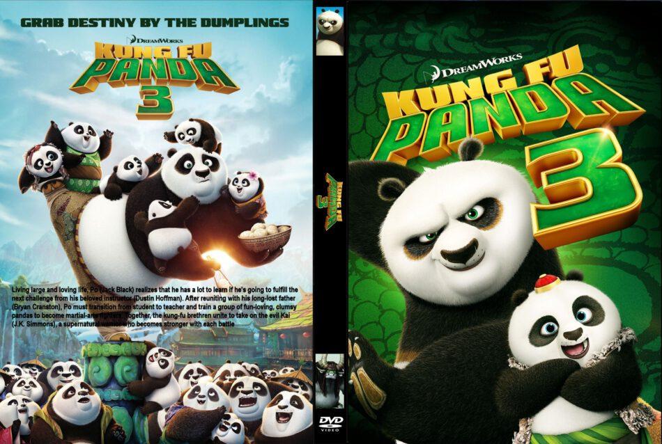 Kung Fu Panda 3 Dvd Cover Label 2016 R0 Custom