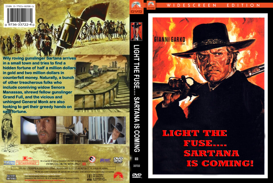 Light The Fuse   Sartana Is Coming Dvd Cover  1970  R1 Custom