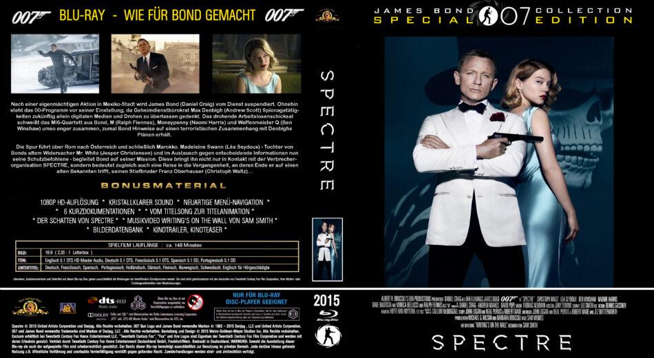 James Bond 007 Spectre Blu Ray Cover 2015 Custom German