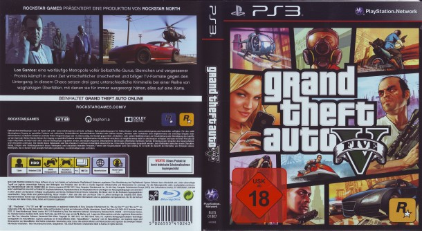 Grand Theft Auto V (2013) PS3 PAL German