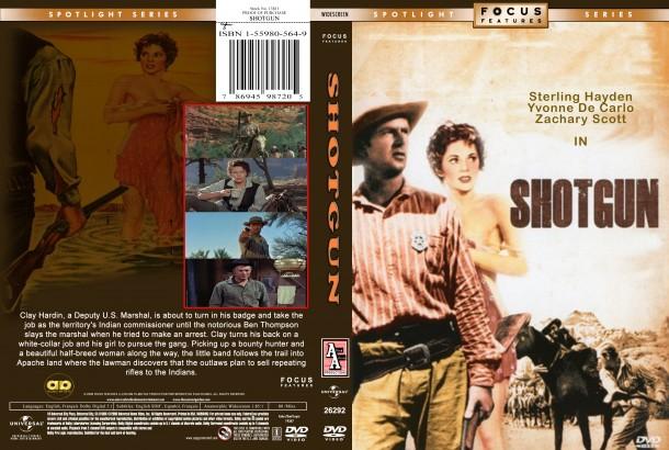 Shotgun (1955) R1 Custom DVD Cover