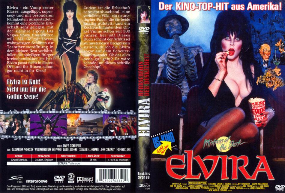 Elvira: Herrscherin der Dunkelheit dvd covers (1988) R2 German