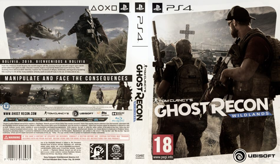 Tom Clancy S Ghost Recon Wildlands Dvd Cover 2016 Ps4 Usa Custom