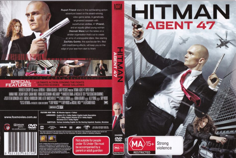 Hitman Agent 47 Dvd Cover 2015 R4