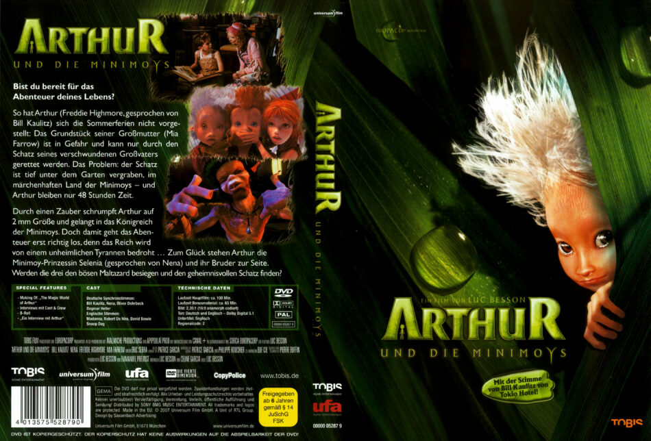 Arthur Und Die Minimoys Dvd Covers 2006 R2 German