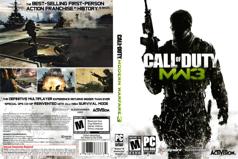 Call Of Duty Modern Warfare 3 Dvd Cover 2011 Pc