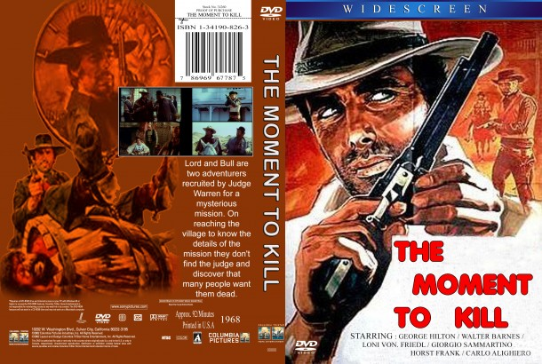 The Moment To Kill (1968) R1 Custom DVD Cover