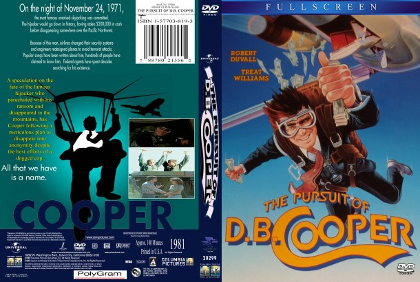 The Pursuit Of D.B. Cooper (1981) R1 Custom DVD Cover