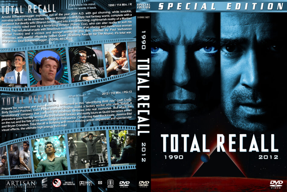 Total Recall Double Feature Dvd Cover 1990 R1 Custom