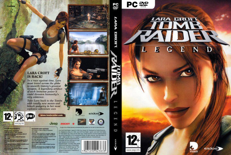 Lara Croft Tomb Raider Legend Dvd Cover 2006 Pc