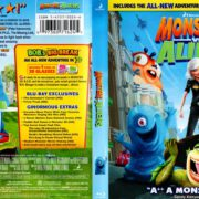 Monsters vs Aliens (2009) R1 Blu-Ray Cover