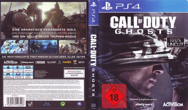 Call of Duty Ghosts (2013) PS4 German