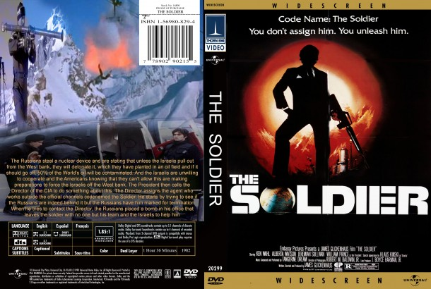 The Soldier (1982) R1 Custom DVD Cover