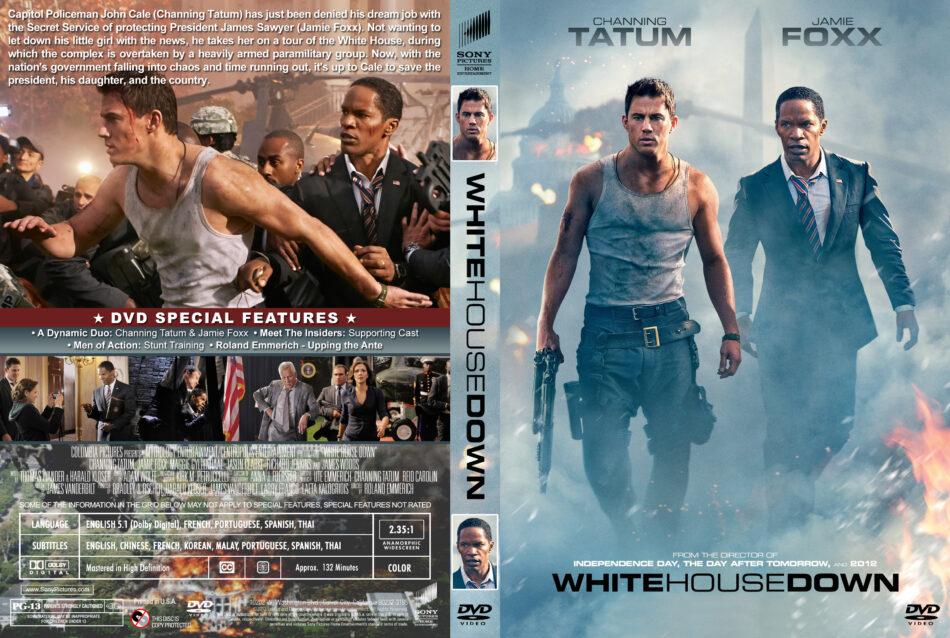 White House Down Dvd Cover Label 2013 R1 Custom