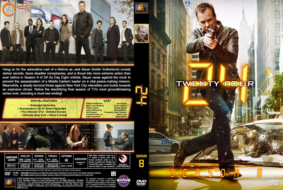 24 - Season 8 dvd cover & labels (2010) R1 Custom