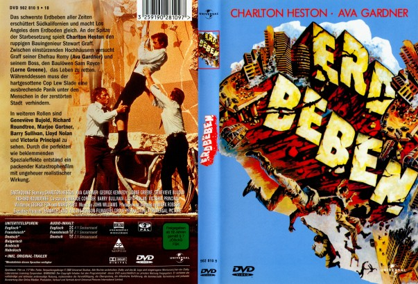 Erdbeben (1974) R2 German Cover
