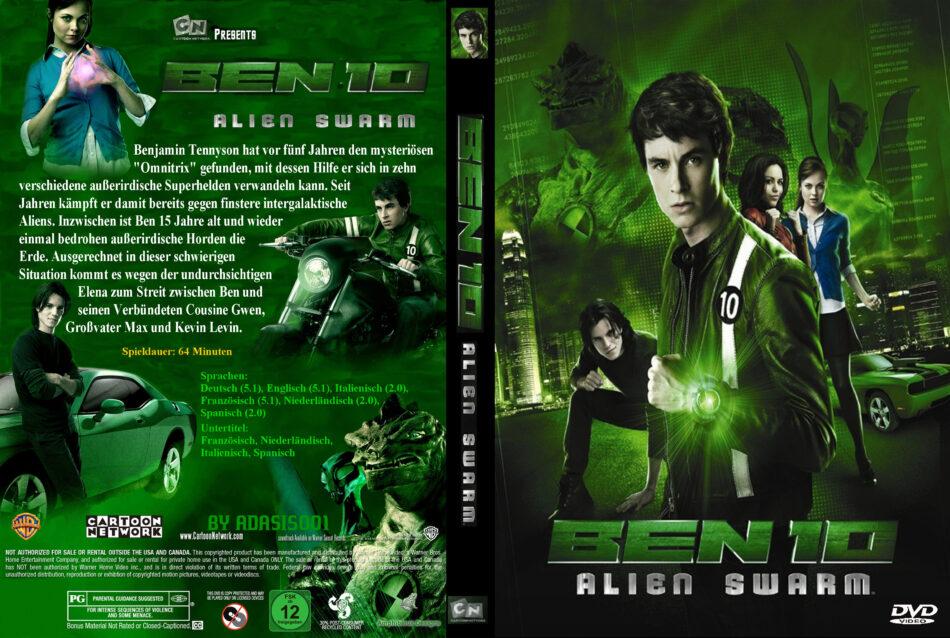 Ben 10 Alien Swarm dvd cover & label (2009) R2 Custom German