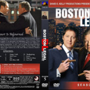 Boston Legal – Season 5 (2008) R1 Custom Cover & labels