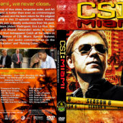 CSI: Miami - Season 6 (2008) R1 Custom Cover & labels