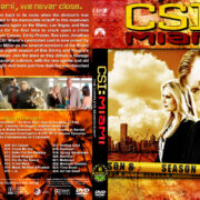 CSI: Miami - Season 8 (2010) R1 Custom Cover & labels