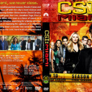CSI: Miami – Season 10 (2012) R1 Custom Cover & labels