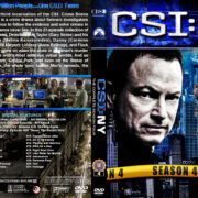 CSI: NY – Season 4 (2008) R1 Custom Cover & labels