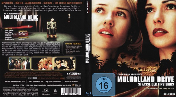 Mulholland Drive (2001) R2 German Blu-Ray & Label