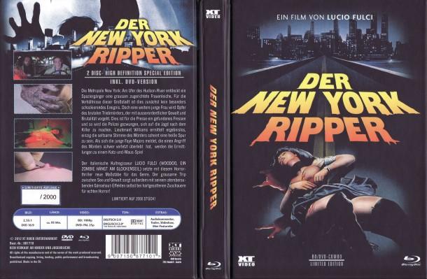 New York Ripper (1982) R2 German Mediabook Cover & Label
