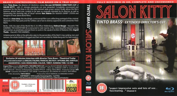 Salon Kitty (1976) R1 Blu-Ray Cover & Label
