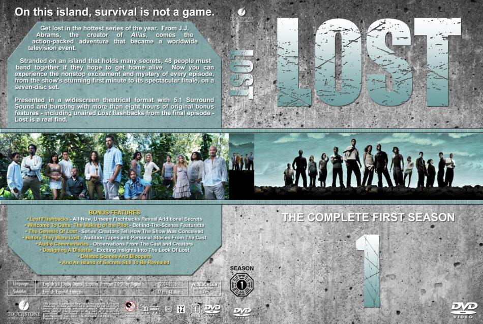 Lost - Season 1 dvd cover & labels (2004) R1 Custom