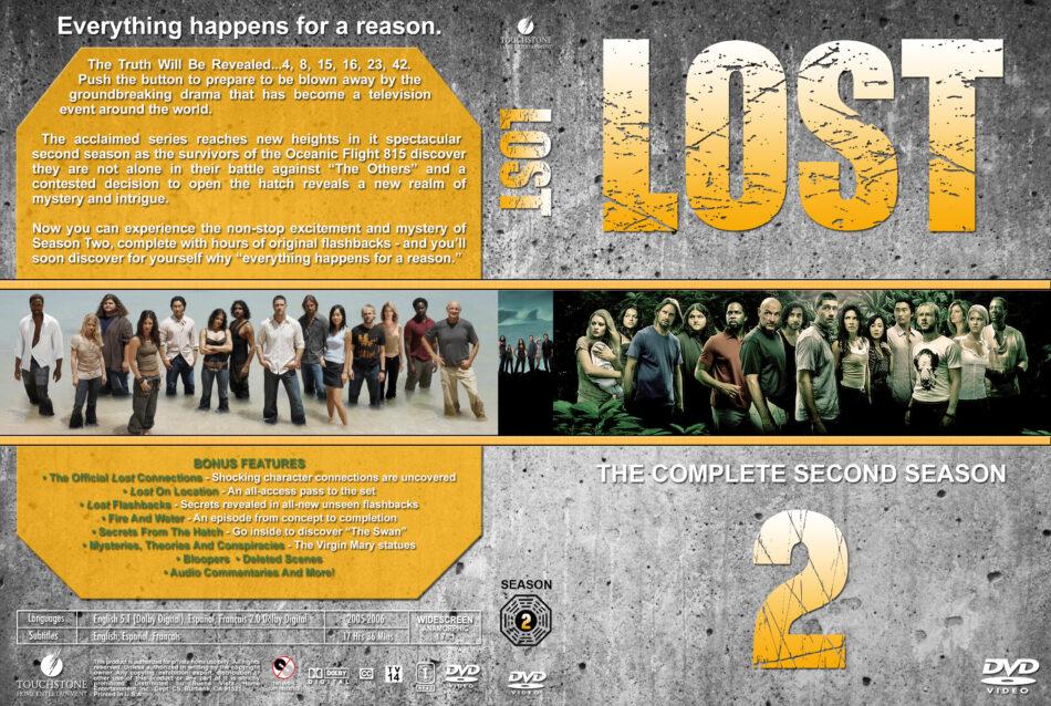 Lost - Season 2 dvd cover & labels (2005) R1 Custom