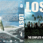 Lost – Season 4 (2001) R1 Custom DVD Cover & labels