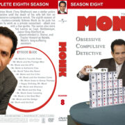 Monk – Season 8 (2009) R1 Custom Cover & labels