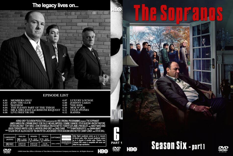 The Sopranos - Season 6, part 1 dvd cover & labels (2006) R1