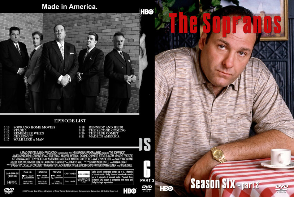 The Sopranos - Season 6, part 2 dvd cover & labels (2007) R1