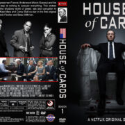 House of Cards – Season 1 (2013) R1 Custom Cover & labels