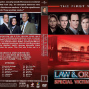 Law & Order: SVU – Season 1 (1999) R1 Custom Cover & labels
