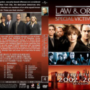 Law & Order: SVU - Season 4 (2002) R1 Custom Cover & labels