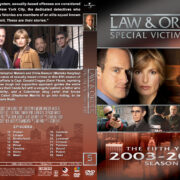 Law & Order: SVU – Season 5 (2003) R1 Custom Cover & labels