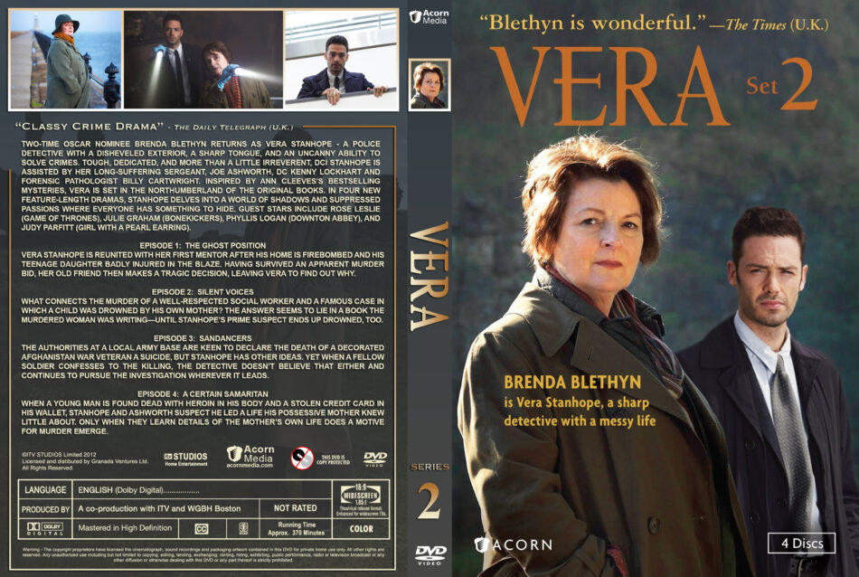 Vera - Set 2 dvd cover & labels (2012) R1 Custom