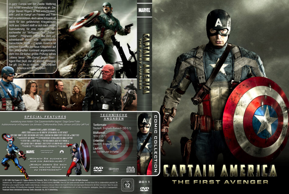 Captain America The First Avenger Dvd Covers 2011 R2 German