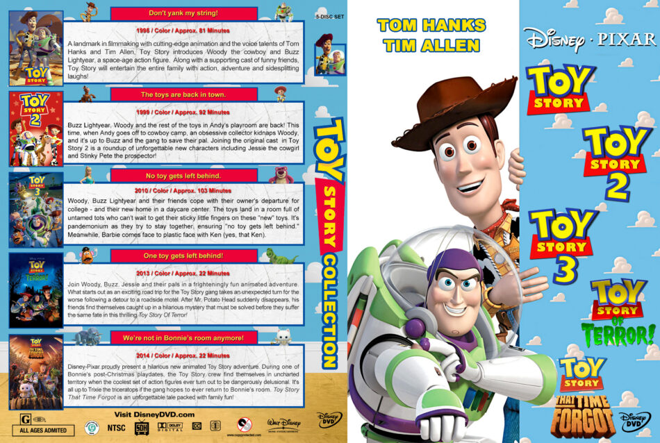 Toy Story Collection Dvd Cover 1996 2014 R1 Custom