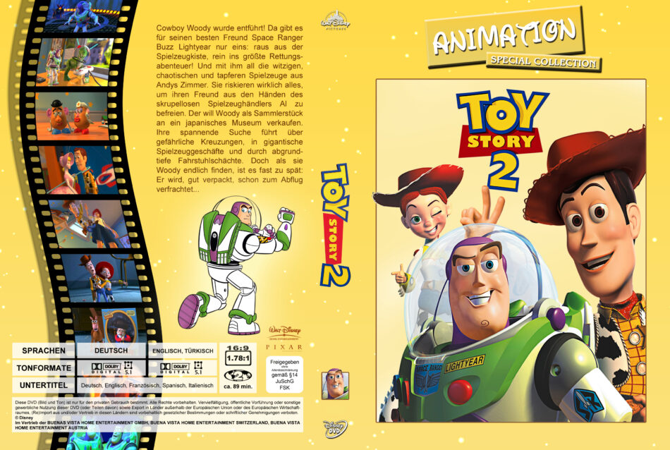 Toy Story 2 Dvd Cover 1999 R2 German