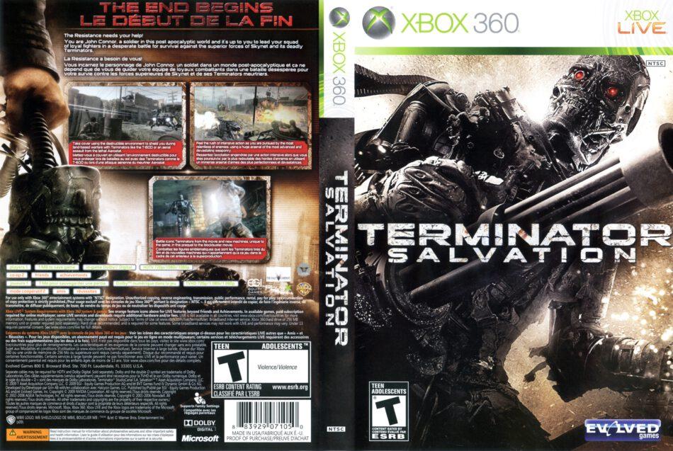 Terminator Salvation Dvd Cover 2009 Xbox 360 Usa