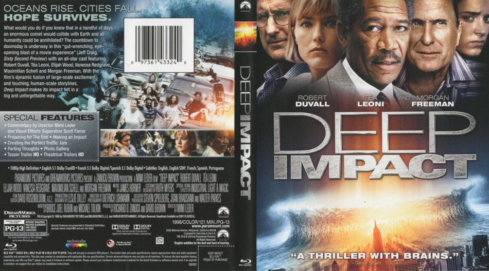 Deep Impact Blu Ray Cover 1998 R1