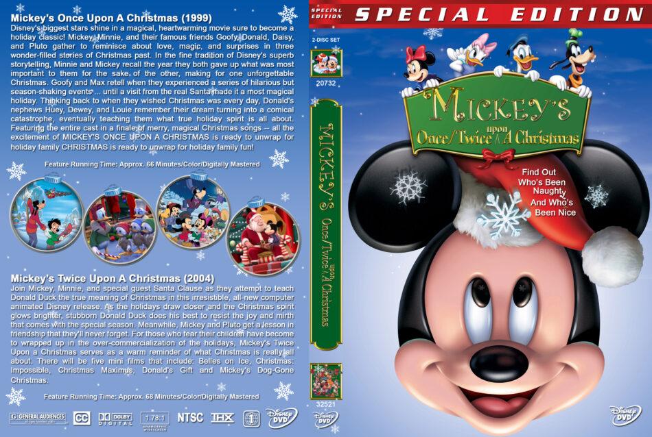 Twice Upon A Christmas.Mickey S Once Twice Upon A Christmas Dvd Cover 1999 2004