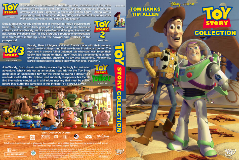 Toy Story Collection Dvd Cover 1995 2013 R1 Custom