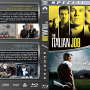 The Italian Job / Shooter Double Feature (2003-2007) R1 Custom Blu-Ray Covers
