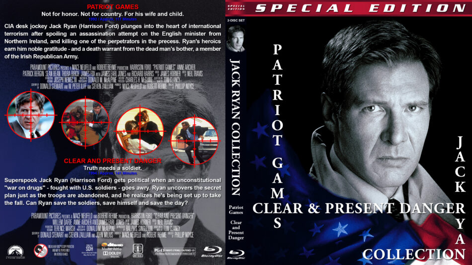 Patriot Games Clear Present Danger Double Feature 1992 1994 R1 Custom