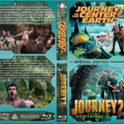 Journey to the Center of the Earth / Journey 2 the Mysterious Island Double (2008-2012) R1 Custom Blu-Ray Cover